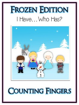 I Have Who Has FROZEN Princess Folder Game - Counting Fingers