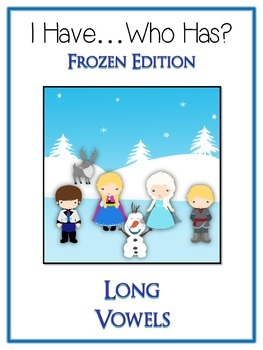 I Have Who Has FROZEN Princess Folder Game - LONG VOWELS