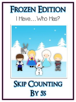 I Have Who Has FROZEN Princess Folder Game - Skip Counting 5s