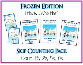 I Have Who Has FROZEN Princess Folder Game - Skip Counting By 2 5 10