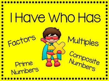I Have Who Has Factors and Multiples Interactive Game