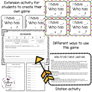 I Have, Who Has - Math Facts Bundle