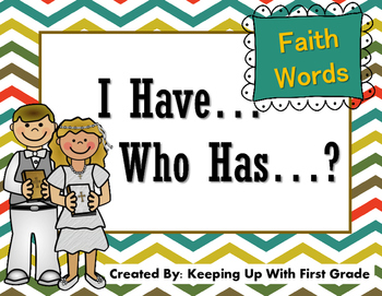 I Have... Who Has...? Faith Words