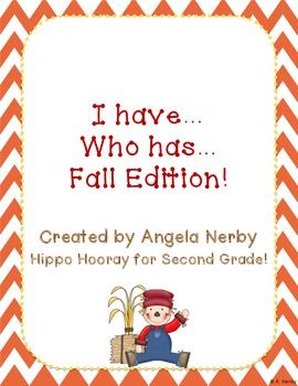 I Have, Who Has: Fall Edition