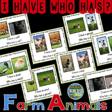 I Have Who Has Game Vocabulary Farm Animals