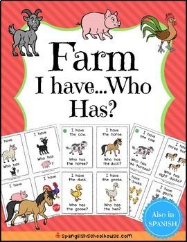 I Have, Who Has {Farm Theme}