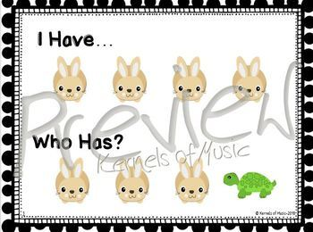 I Have, Who Has? Fast & Slow-Black & White