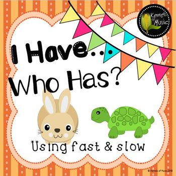 I Have, Who Has? Fast & Slow-Pastel