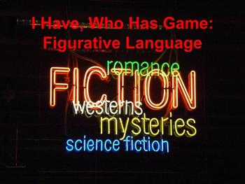 I Have, Who Has: Figurative Language!