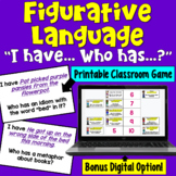 Figurative Language I Have Who Has Game: Print and Digital Formats
