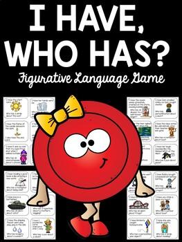 I Have, Who Has Figurative Language Game; Printable Activity; No Prep