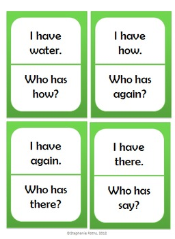 I Have, Who Has: First Grade Treasures Unit 3 Phonics Skills