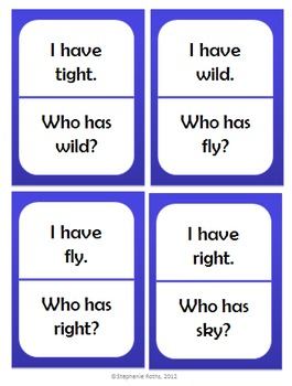 I Have, Who Has: First Grade Treasures Unit 5 Phonics Skills