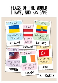 I Have, Who Has Flags Game