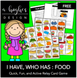 FREE I Have, Who Has: Food (30 Cards)