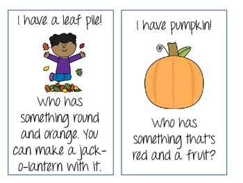 I Have, Who Has? For Fall Vocabulary!
