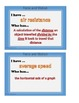 Force and Motion / I Have.. Who Has.. / Science Vocabulary  5.P.1