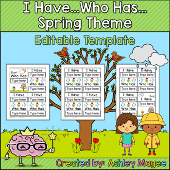 I Have Who Has Four Seasons Template Bundle