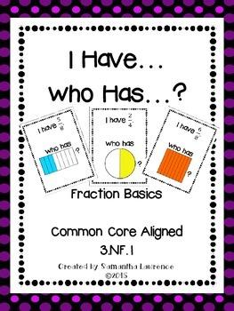 I Have... Who Has... Fraction Basics