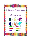 I Have Who Has Fraction Card Game