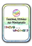 I Have, Who Has? Fraction, Decimal and Percentage #support