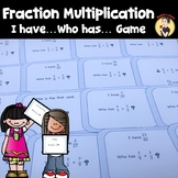 I Have Who Has Fraction Multiplication Game
