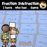 I Have Who Has Fraction Subtraction Like Denominators Game