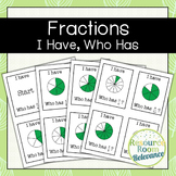 Identifying Fractions I Have Who Has