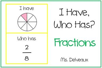 I Have, Who Has, Fractions Fun