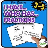 I Have, Who Has Fractions Game (for thinkers)