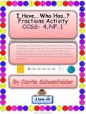 I Have Who Has Fractions Gr 4 CCSS 4.NF.1 Game Activity