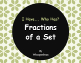 I Have, Who Has - Fractions of a Set