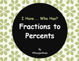 I Have, Who Has - Fractions to Percents