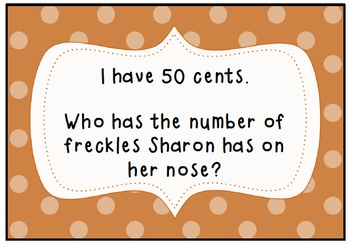 I Have, Who Has Freckle Juice- A whole class reading game!