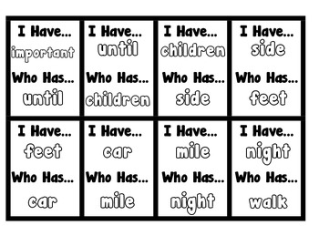 I Have, Who Has - Fry Sight Word Game 251-300 (Set 6)