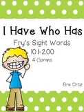 I Have Who Has Fry Sight Words 101-200