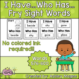 I Have Who Has Fry Words - 24th Group of 25 Words (Words 576-600) Game