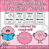 I Have Who Has Fry Words - 40th Group of 25 Words (Words 976-1000) Game