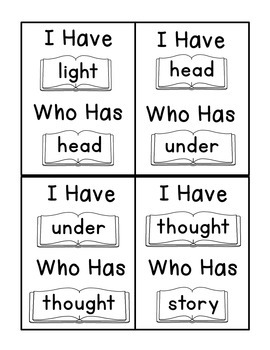 I Have Who Has Fry Words - Ninth 25 Words (Words 201-225) Sight Word Game