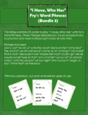 """I Have, Who Has"" Fry's Word Phrases (Group 3)"
