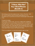 """I Have, Who Has"" Fry's Word Phrases (Group 4)"
