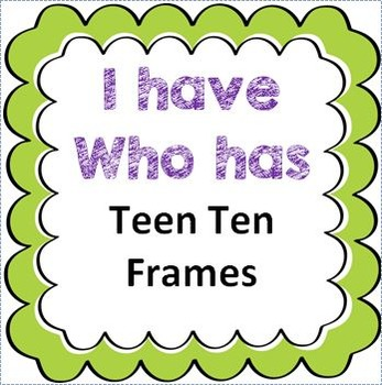 I Have Who Has Game Teen 10 Frames
