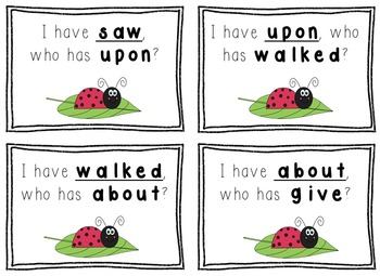 I Have, Who Has Game - 1st Grade Texas Treasures Unit 4 Sight Words