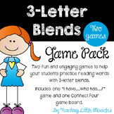 3 Letter Blends Game Pack