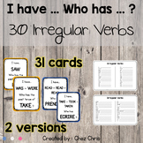 I Have Who Has Game - 30 Irregular Verbs