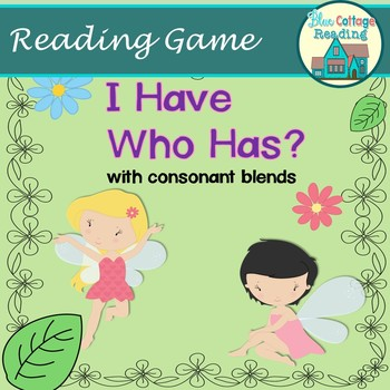 Consonant Blend Card  Game