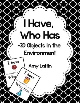 I Have, Who Has Game - 3D Objects in the Environment - Freebie