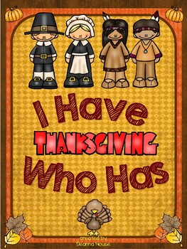 I Have Who Has Game About Thanksgiving WITH DEFINITIONS