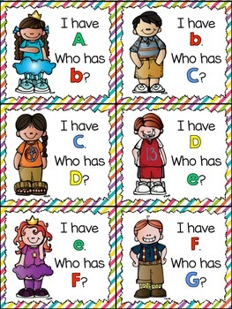I Have, Who Has Game: Alphabet/ABCs