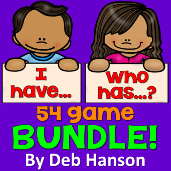 I Have Who Has Game Bundle